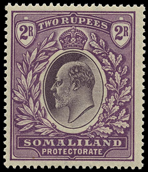 SOMALILAND PROTECT 1904  SG42 Mint unmounted KEVII 2r dull and bright purple watermark Crown CC
