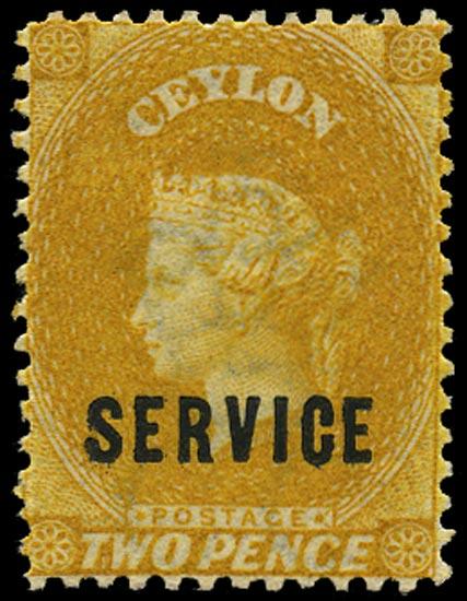 CEYLON 1869  SGO1 Official