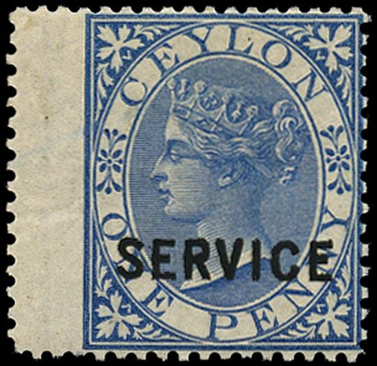 CEYLON 1869  SGO6 Official