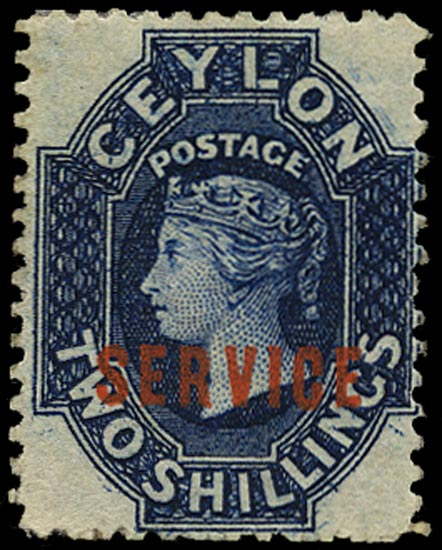 CEYLON 1869  SGO5 var Official