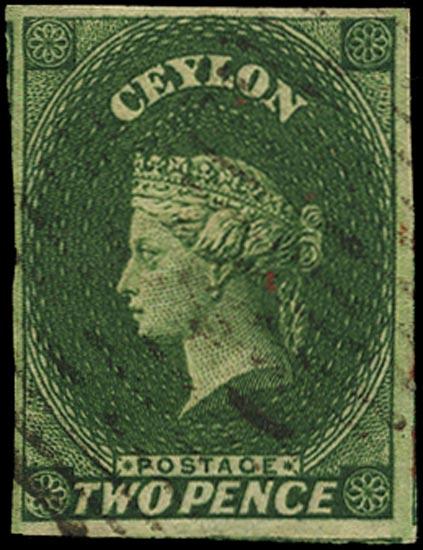 CEYLON 1857  SG3 Used