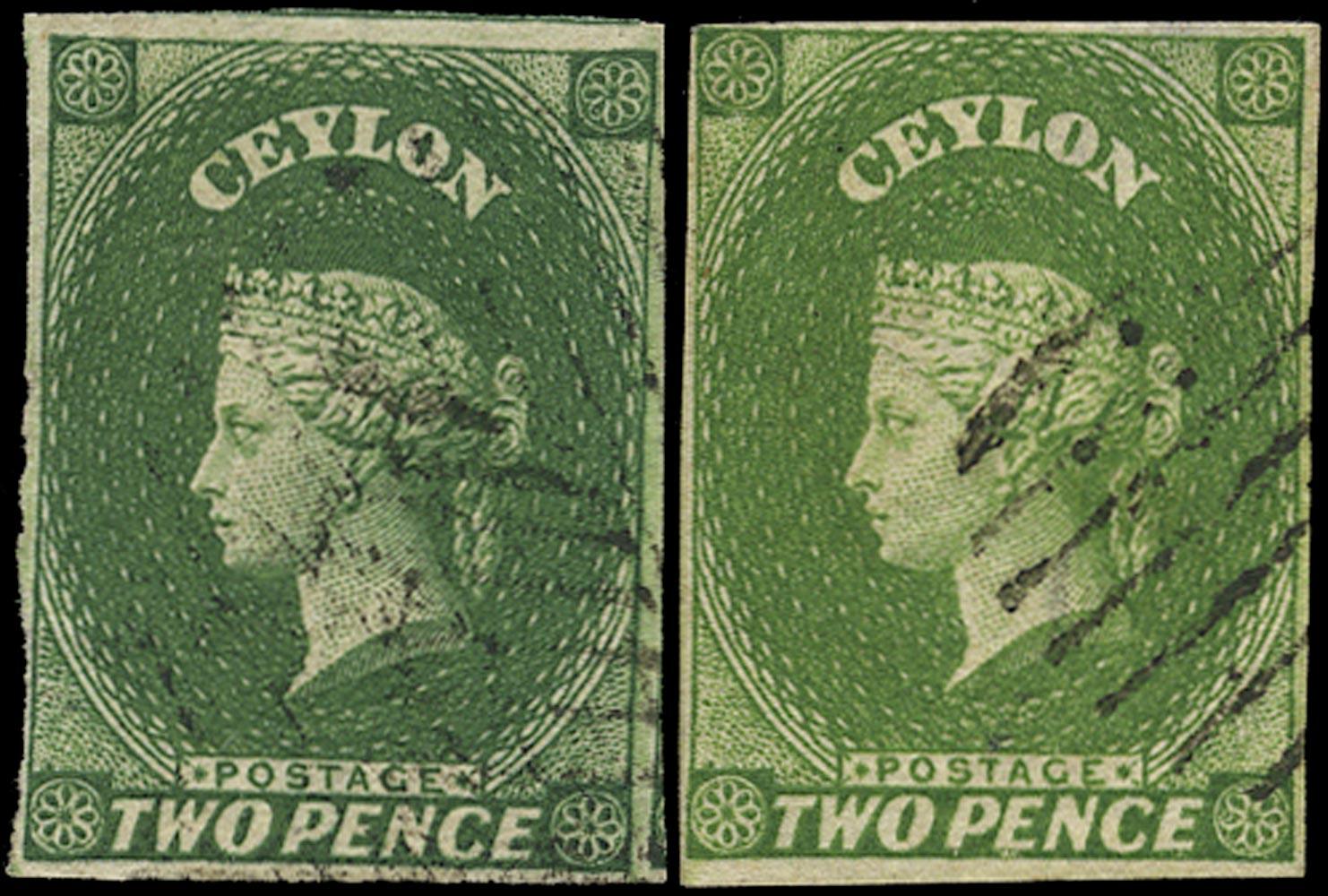 CEYLON 1857  SG3/a Used