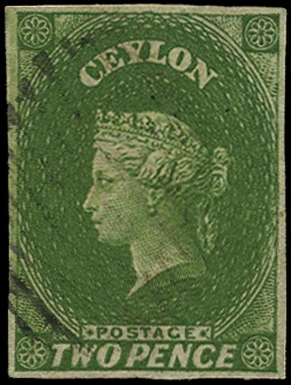 CEYLON 1857  SG3a Used