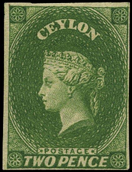 CEYLON 1857  SG3a Mint