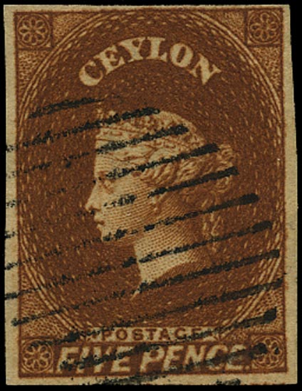 CEYLON 1857  SG5 Used