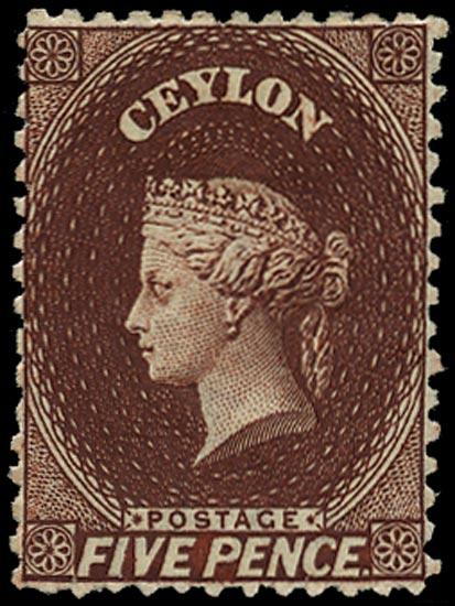 CEYLON 1863  SG53 Mint