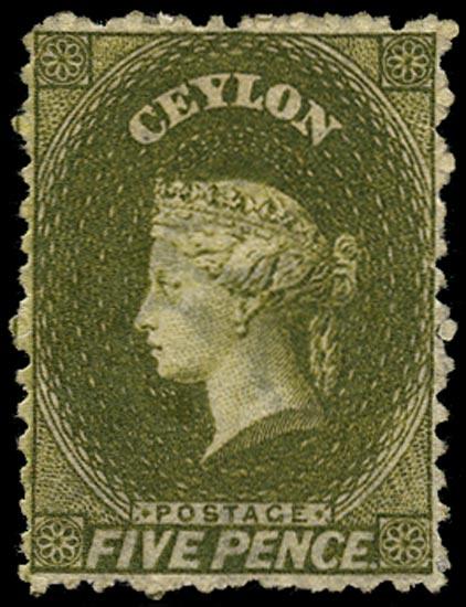 CEYLON 1867  SG66b Mint