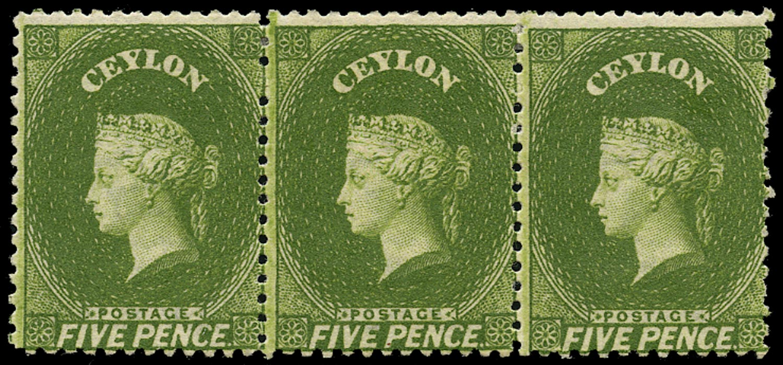 CEYLON 1867  SG66c Mint