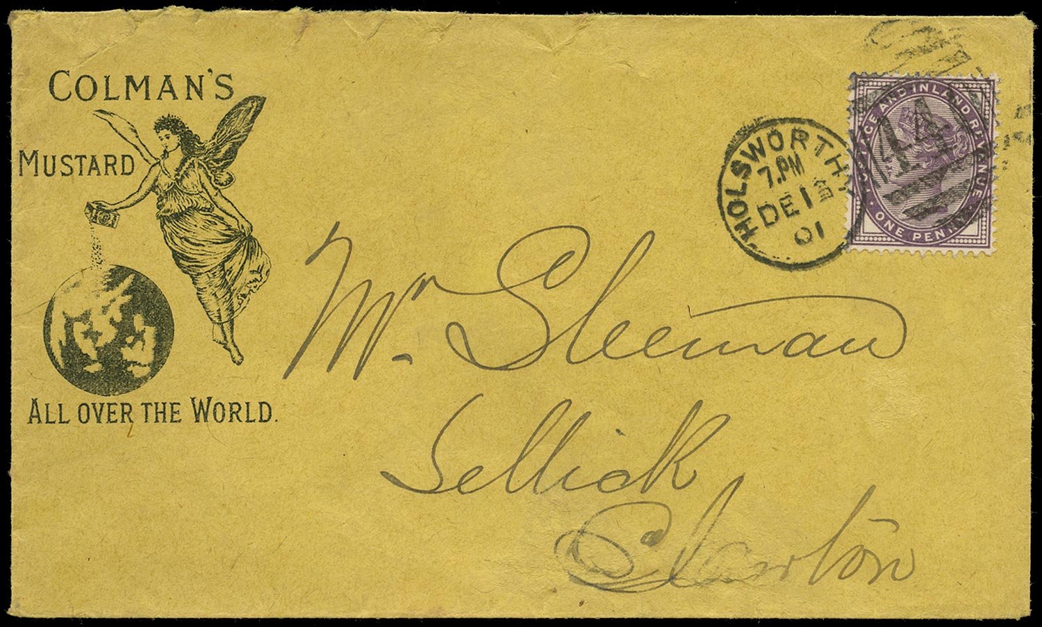 GB 1901  SG174 Cover - Colemans advertising envelope