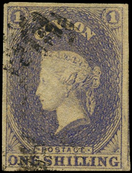 CEYLON 1857  SG10 Used