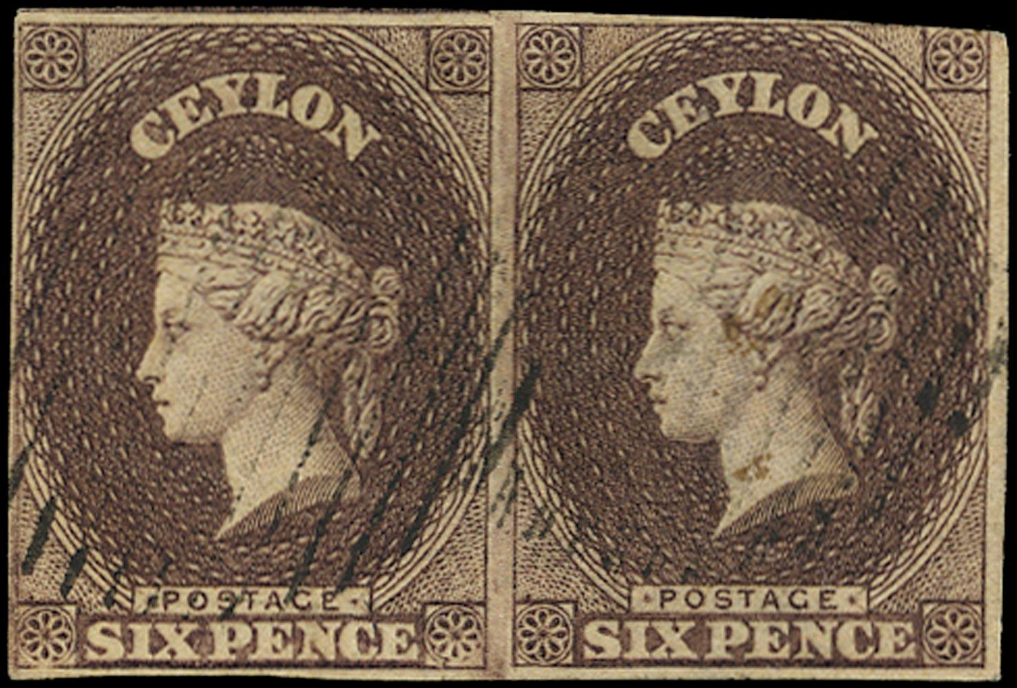 CEYLON 1857  SG6 Used