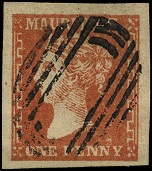 MAURITIUS 1859  SG42 Used 1d dull varmilion 'Dardenne'