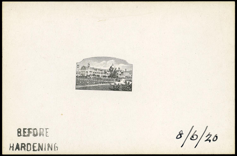 JAMAICA 1919  SG78 Proof of central vignette for ½d Jamaica Exhibition 1891