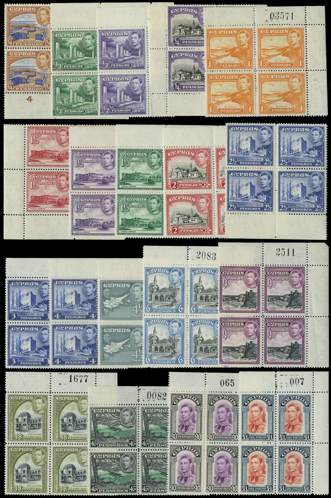 CYPRUS 1938  SG151/63 Mint KGVI set of 19 to £1