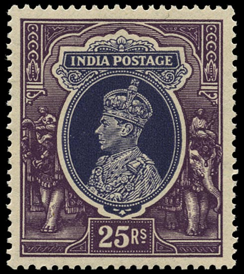 INDIA 1937  SG264 Mint unmounted KGVI 25r slate-violet and purple