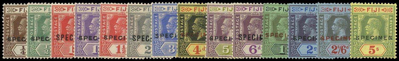 FIJI 1922  SG228s/41s Specimen KGV set of 14 to 5s Script watermark