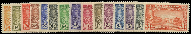 BAHAMAS 1948  SG178/93 Mint unmounted Eleuthera set of 16 to £1
