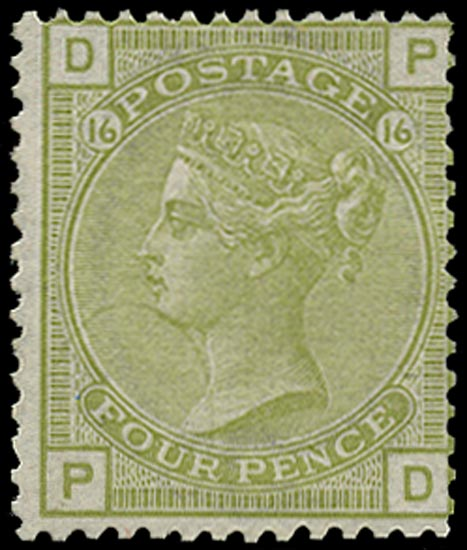 GB 1877  SG153 Pl.16 Mint Unused o.g. example (PD)