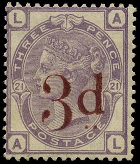 GB 1883  SG159 Pl.21 Mint unused o.g. example (AL)