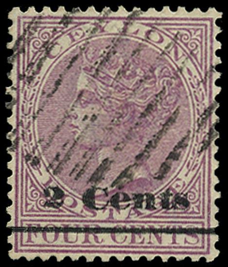 CEYLON 1888  SG206 Forgery