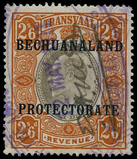 BECHUANALAND 1906 Revenue