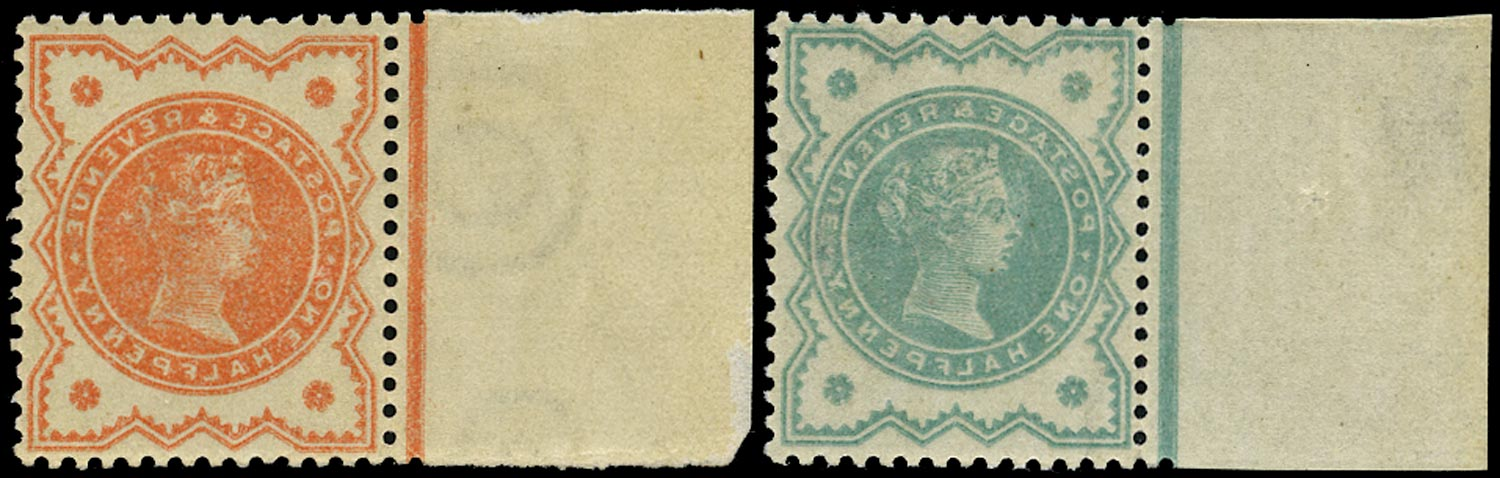 GB 1887  SG197, 213 Mint unmounted o.g. pair of offsets