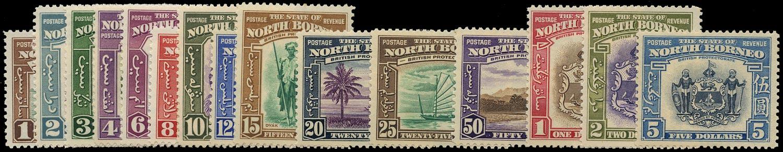 NORTH BORNEO 1939  SG303/17 Mint