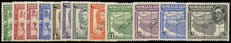SOMALILAND PROTECT 1938  SG93s/104s Specimen