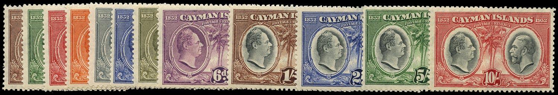 CAYMAN ISLANDS 1935  SG84/95 Mint Centenary set