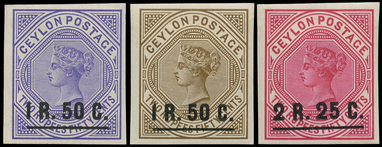 CEYLON 1898  SG254/5 Proof