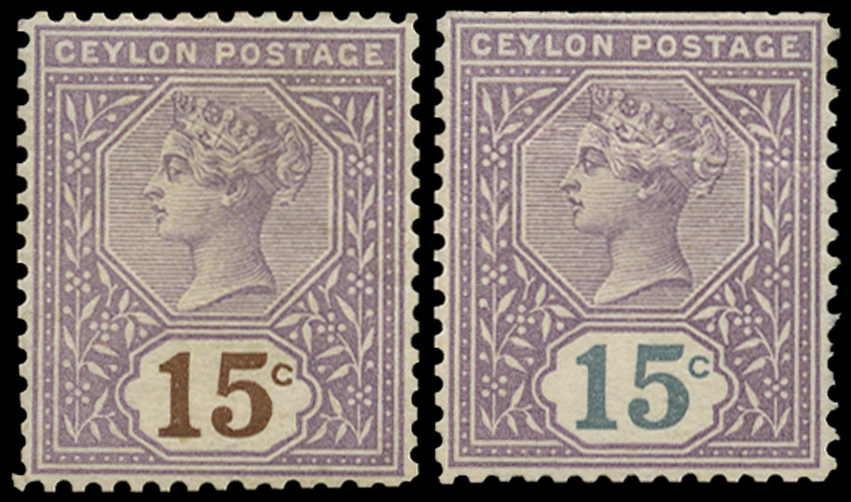CEYLON 1886  SG196 Colour Trial
