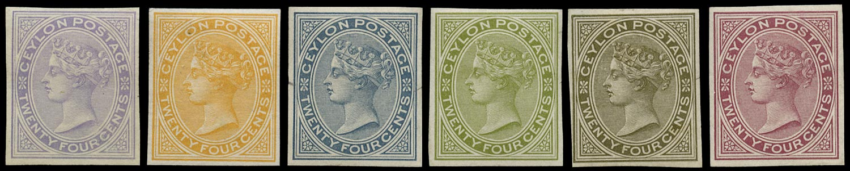 CEYLON 1884  SG152 Colour Trial