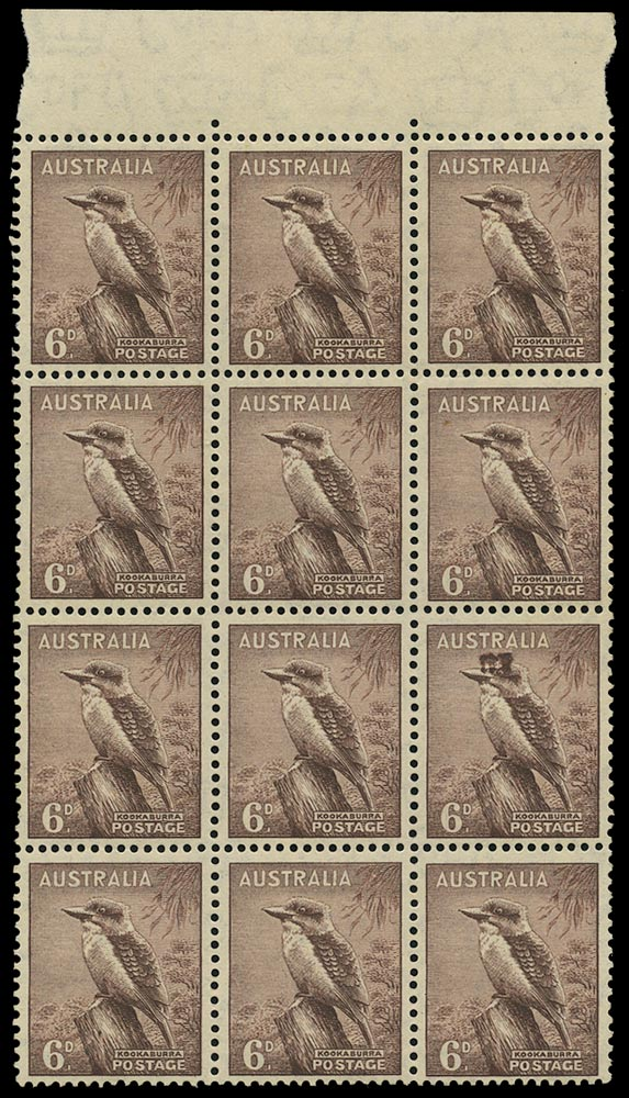 AUSTRALIA 1937  SG190a/ab Mint Top Hat Flaw