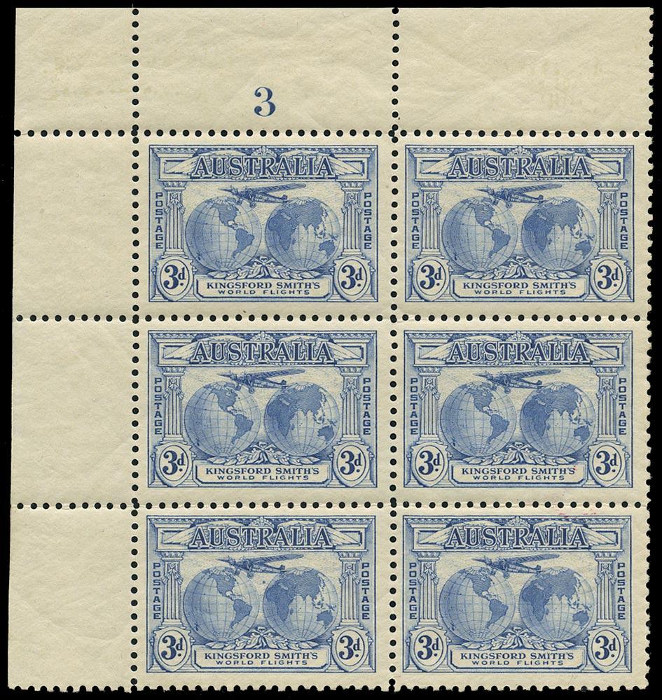 AUSTRALIA 1931  SG122/a Mint Kingsford Smith 'Plane dropping mailbag' variety