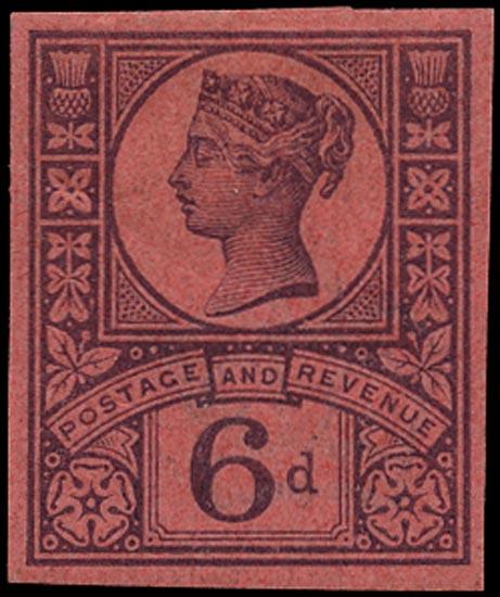 GB 1887  SG208var Mint imprimatur