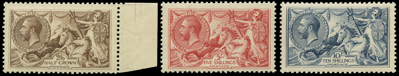 GB 1918  SG413a/7 Mint - unmounted o.g. set of three