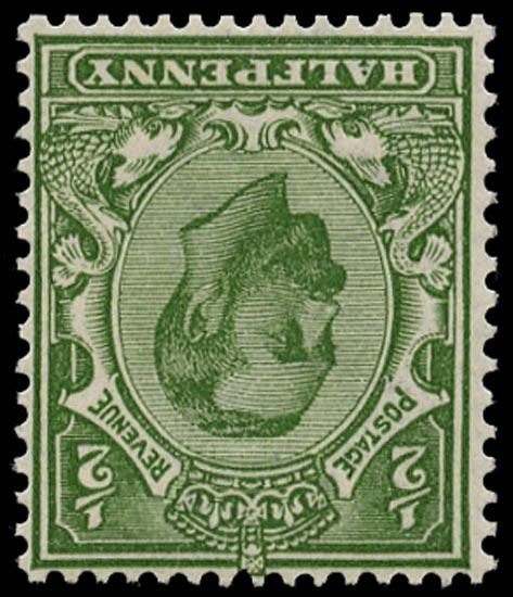 GB 1912  SG335wi Mint wmk inverted U/M o.g. example