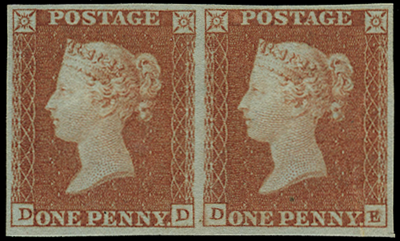 GB 1841  SG8 Pl.93 Mint -  Unused pair (DD-DE)