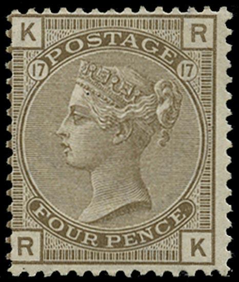 GB 1880  SG154 Pl.17 Mint - unused o.g. example (RK)