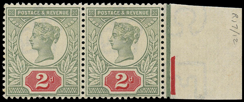 GB 1887  SG200 Mint - Double frame line at left U/M o.g.