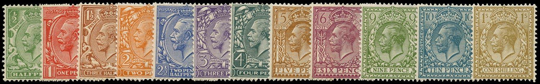GB 1924  SG418/29 Mint - U/M o.g. set of twelve