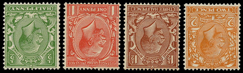 GB 1924  SG418/21wi Mint - U/M o.g. set four