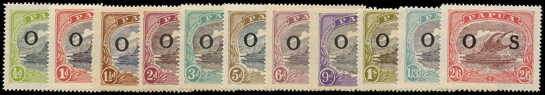 PAPUA 1931  SGO55/9, 61/6a Official