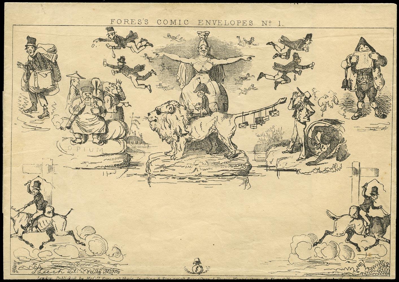 GB 1840 Postal Stationery - Fores's Comic Envelope Broadsheet format