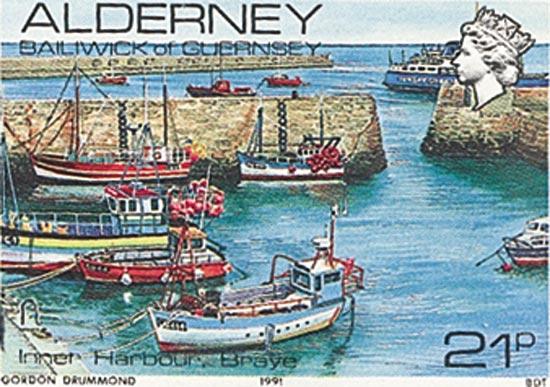 Alderney 1991  SGA12b unmounted mint