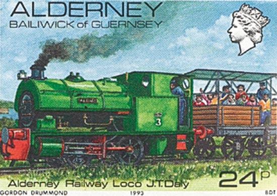 Alderney 1993  SGA12d unmounted mint