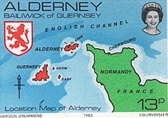 Alderney 1983  SGA7 unmounted mint