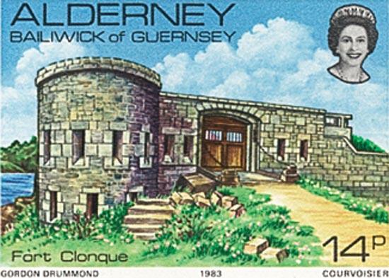 Alderney 1983  SGA8 unmounted mint