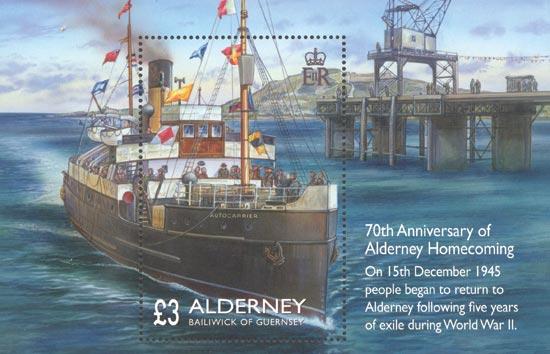 Alderney 2015  SGMSA566 unmounted mint